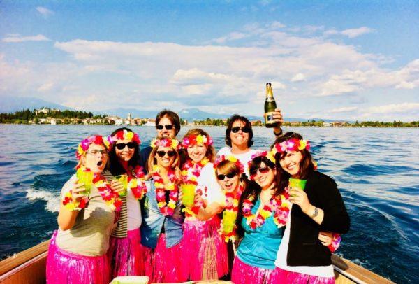 Addio al Nubilato Lago di Garda in barca con festa a sorpresa